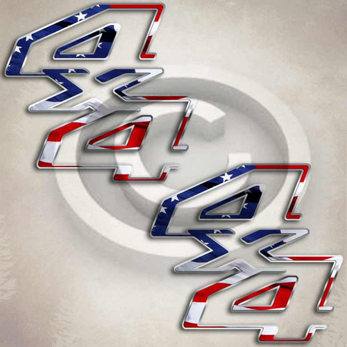 F-250 American Flag Ford Style Truck Decals