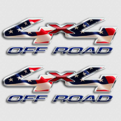 American Flag F-250 Off Road Truck Decals