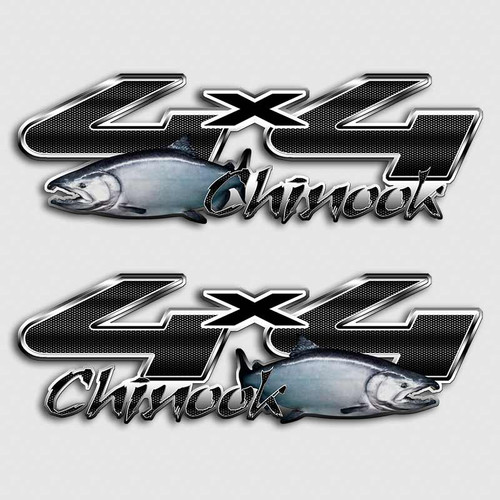 4x4 Chinook Fishing Alaskan Truck F-250 Decals
