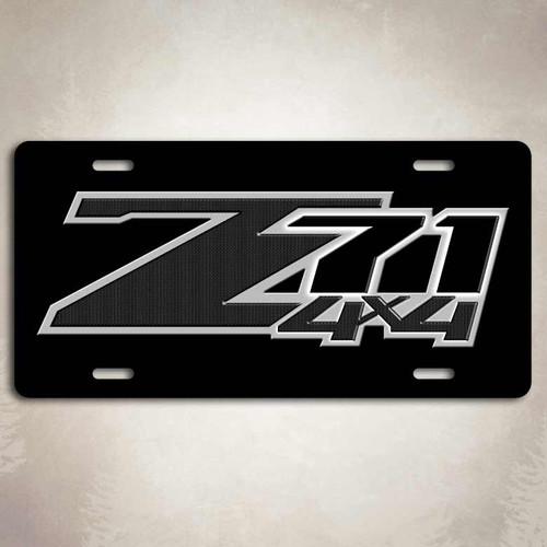 Z71 4x4 Black License Plate