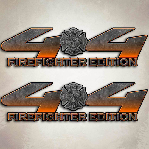Orange Firefighter Edition 4x4 Truck Decal Set