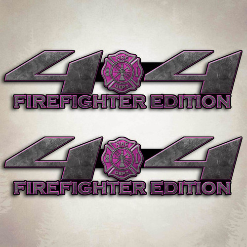 4x4 Truck Sexy Firefighter Pink Decal Set