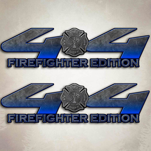 Blue Firefighter Edition 4x4 Truck Decal Set