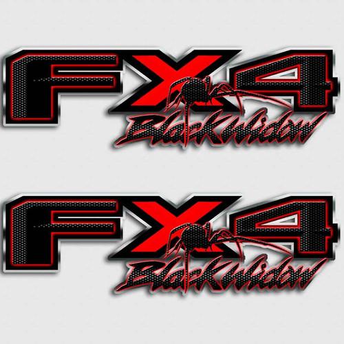 Black Widow FX4 Truck Decal Set