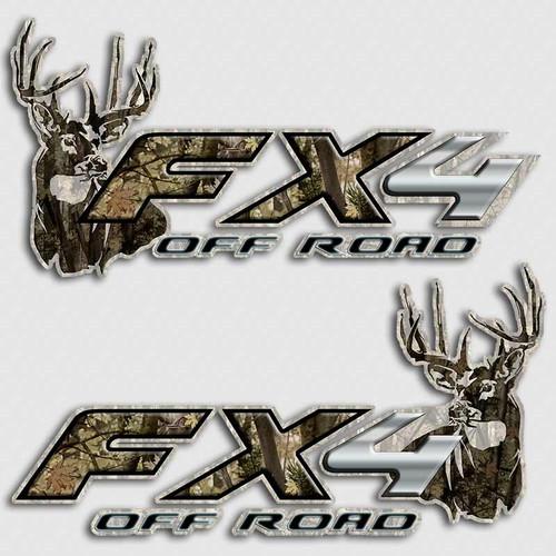 FX4 Whitetail Deer Camouflage Decals