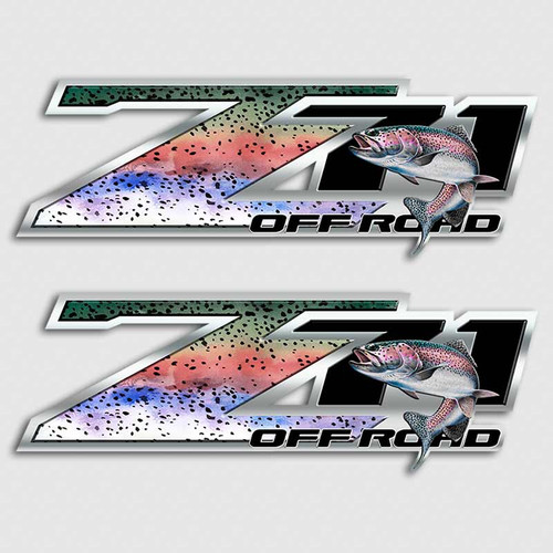 Z71 Rainbow Trout Truck Decals