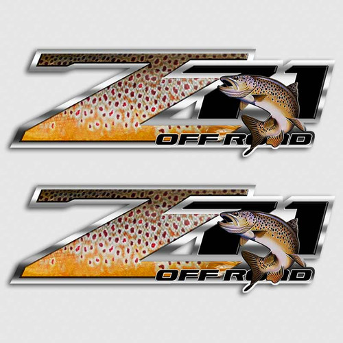 Z71 Brown Trout Truck Decals