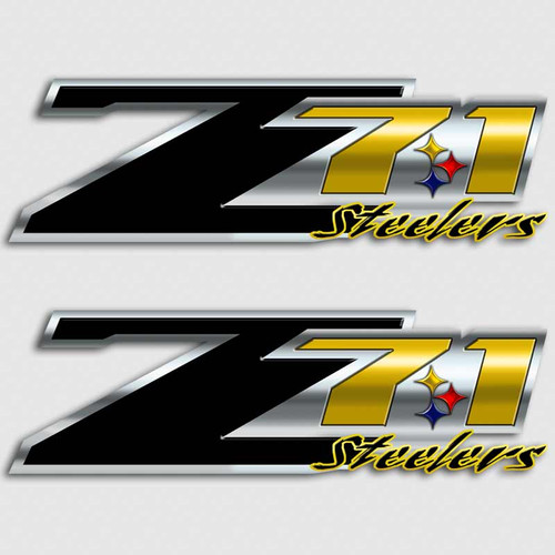 Z71 Steelers Football Truck Decals