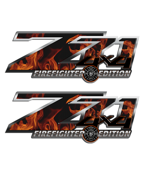 Firefighter Z71 4x4 Sticker Set 16""