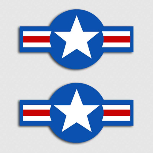 Air Force Roundel Drone Decal Set