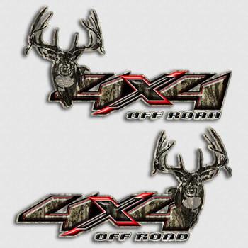 Gmc Red Deer >> Whitetail Deer Silverado Truck Decals | 4x4 Camouflage Sierra Sticker