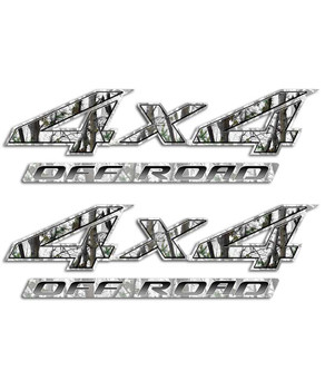 4x4 Snow Camo Sticker Set Aftershock Decals