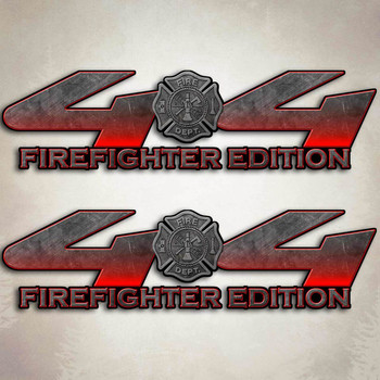 Red F-250 Firefighter Edition Truck Decals | 4x4 Fire Ford ...
