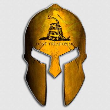 Dont Tread On Me Flag Spartan Helmet Decal Gadsden