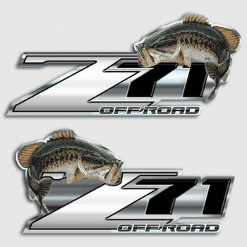 Bass fishing z71 chevy truck decal silverado fish sticker for Fishing stickers for trucks