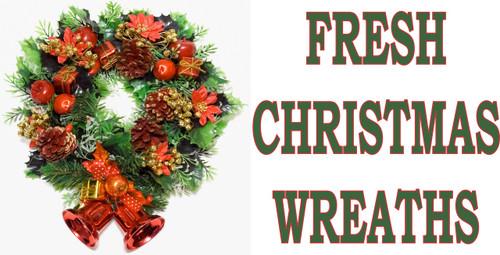 Fresh Christmas Wreaths Banners.