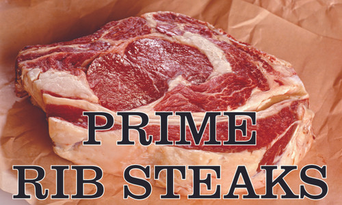 Prime Rib Steak Banner Just Cut Looks Great.