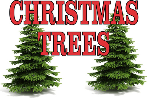 Christmas Trees Banner that bring in shoppers.