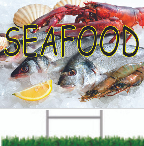 Seafood Road Sign.