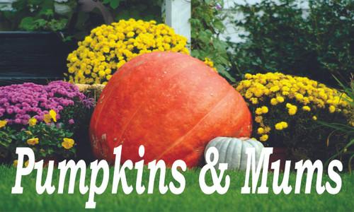 Produce Banners - Pumpkins & Mums!