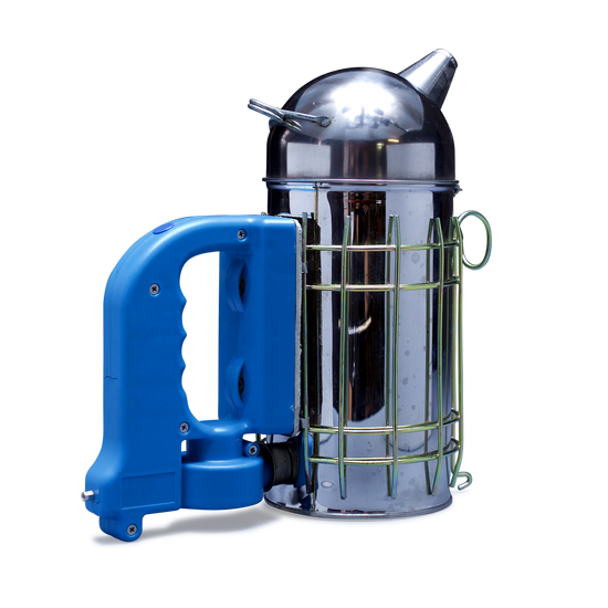 Electric Smoker with Blue/Black Handle