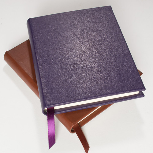 Purple and Tan leather