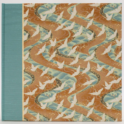 Photo Album in Turquoise with White Cranes