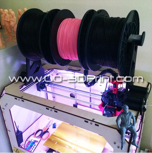 Filament Spool Holder for Makerbot, Flashforge and most all other wood frame 3d printers
