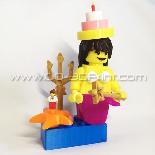 Lego Giant Mermaid Mini Figure w/ Birthday Hat
