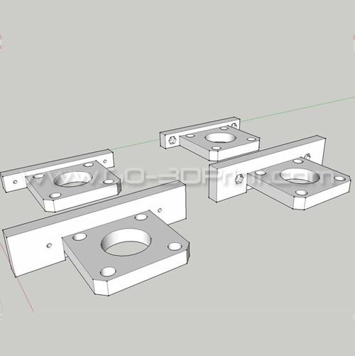 Flashforge Creator Uprated Motor Stepper Mount / Holder (Y-Axis)