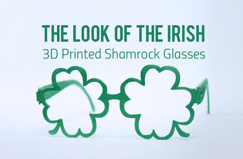 St Patrick's Day | 3D Printed Shamrock Glasses