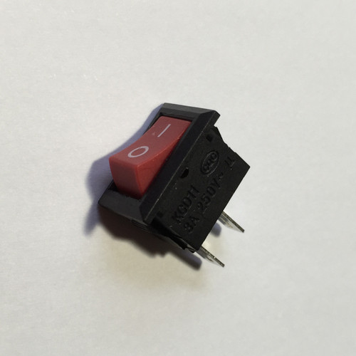 AC 250V 3A Red Button 2 Pin SPST On/Off Snap in Boat Rocker Switch 13x8mm