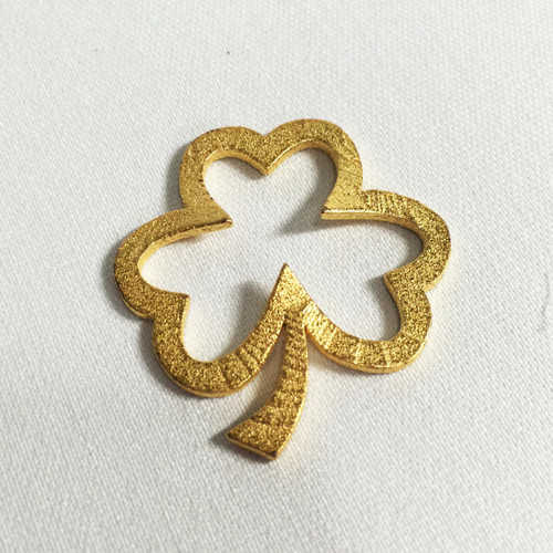 Open Heart Shamrock Pendant