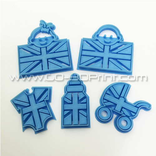 United Kingdom Royal Family Baby Union Jack Iconic British Flag Cookie Cutter Set