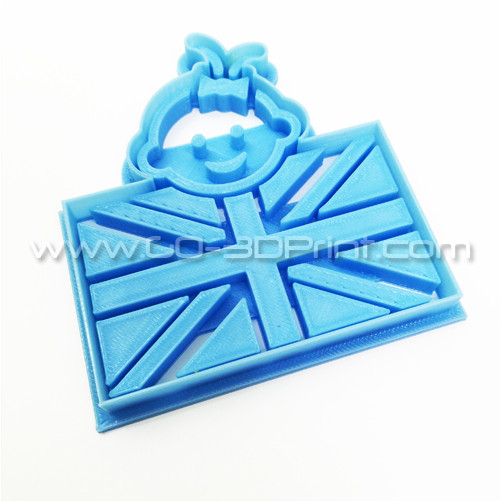 United Kingdom Royal Family Baby Girl Union Jack Iconic British Flag Cookie Cutter