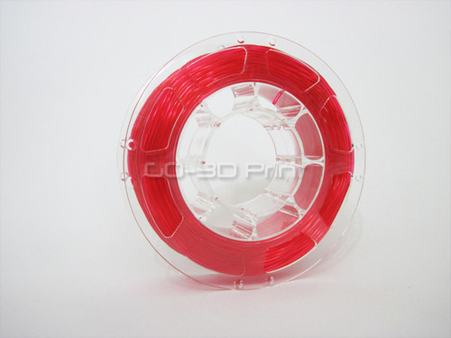 Transparent Red Flexible TPE 3D Printing Filament 1.75mm 200g