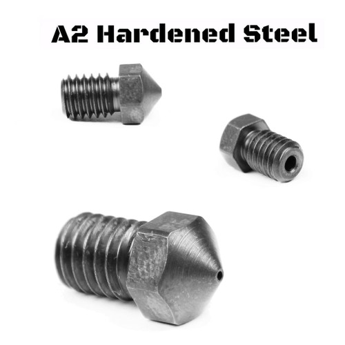 A2 Hardened Steel RepRap M6 Thread 1.75mm Filament Nozzle