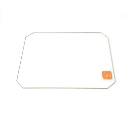 130mm x 160mm Borosilicate Glass Plate w/ corner cut for MP Mini Select 3D Printer