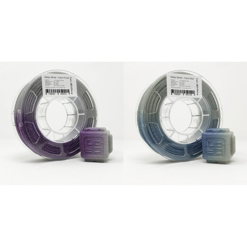 Illusion Silver Flake Light Change Blue Purple 3D Printing PLA Filament 2pcs