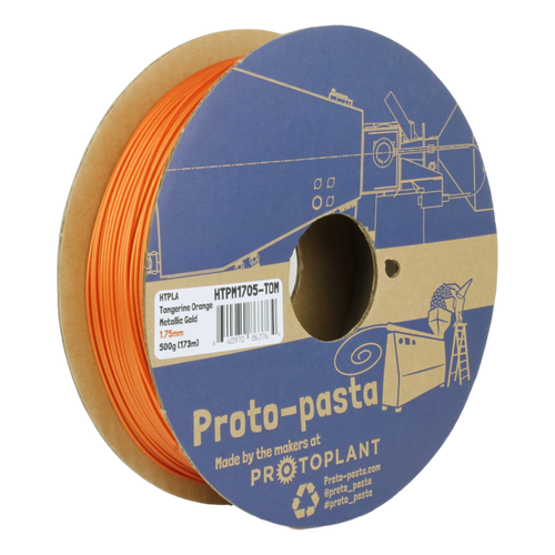 Proto-Pasta Metallic HTPLA - Tangerine Orange Metallic Gold 3D Printing Filament 1.75mm (500 g)