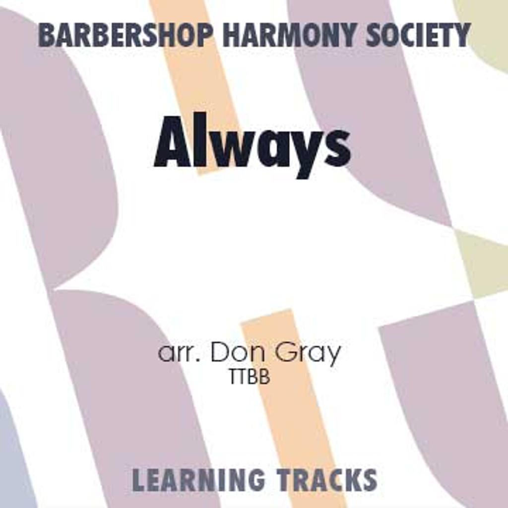 Always (TTBB) (arr. Gray) - CD Learning Tracks for 211651