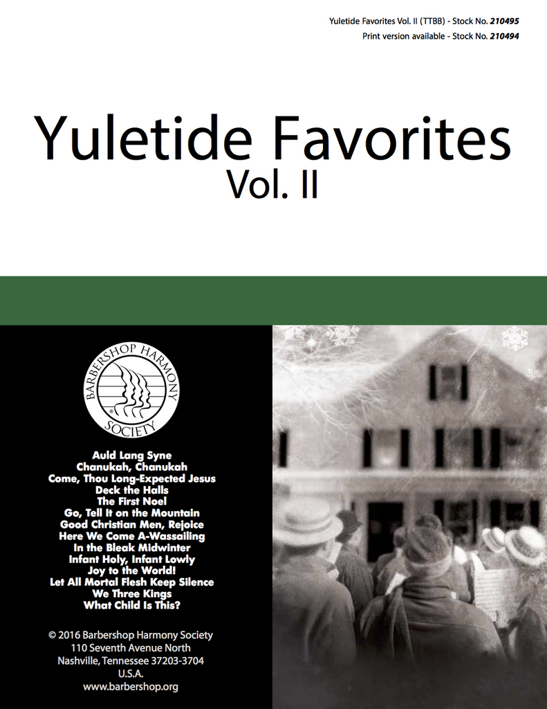 Yuletide Favorites Vol. II Digital Songbook - Download