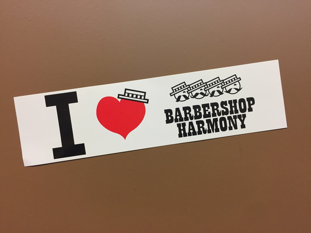 I Heart Barbershop Harmony Bumper Sticker
