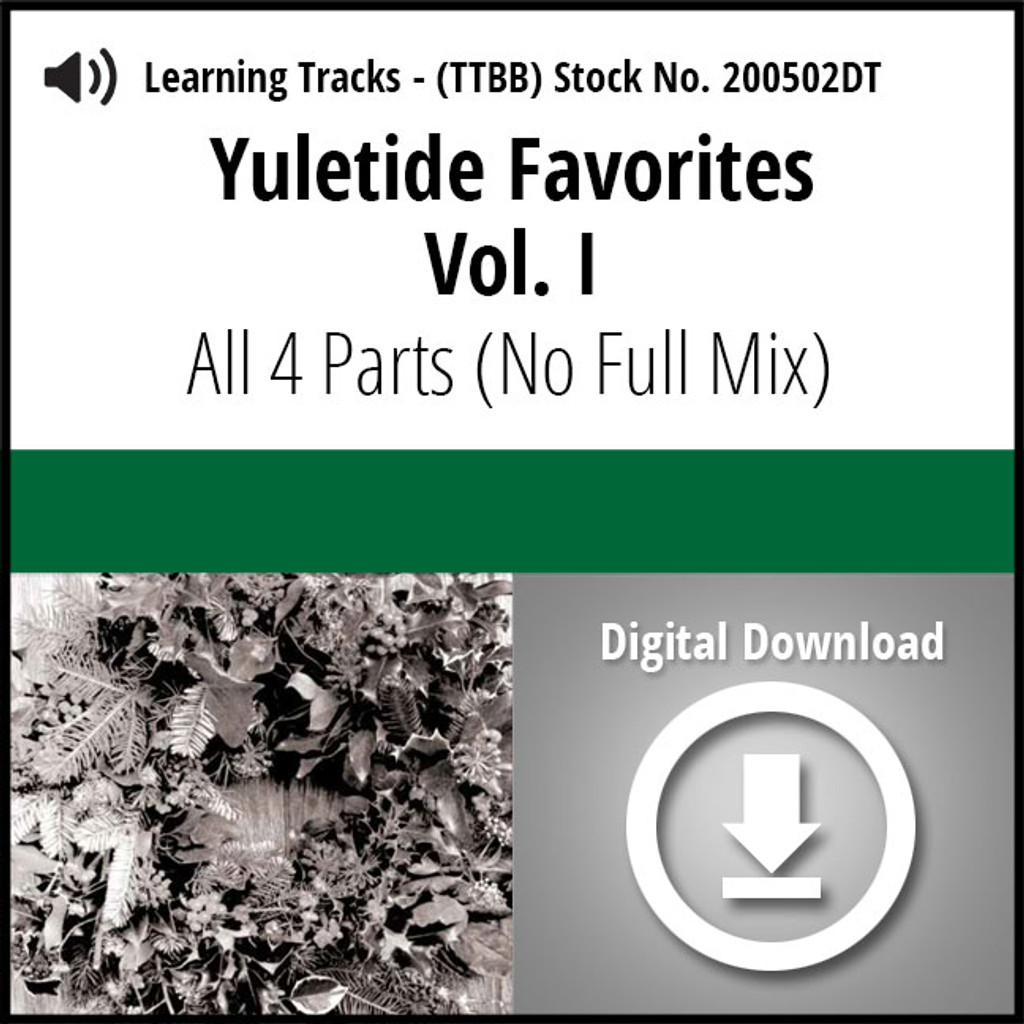 Yuletide Favorites Vol. I Digital Learning Tracks (All 4 Parts) (No Full Mix) for 210860