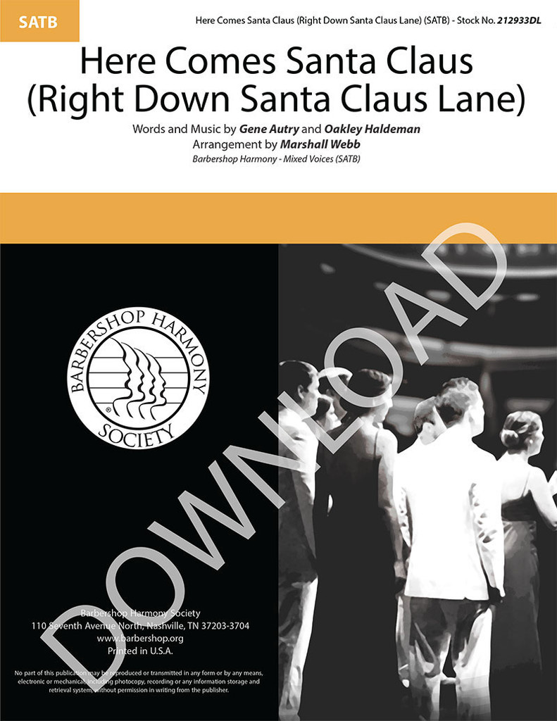 Here Comes Santa Claus (Right Down Santa Claus Lane) (SATB) (arr. Webb) - Download