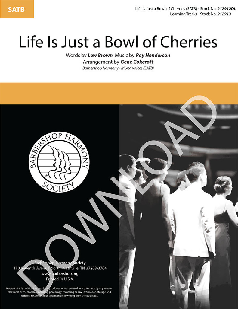 Life Is Just a Bowl of Cherries (SATB) (arr. Cokeroft) - Download