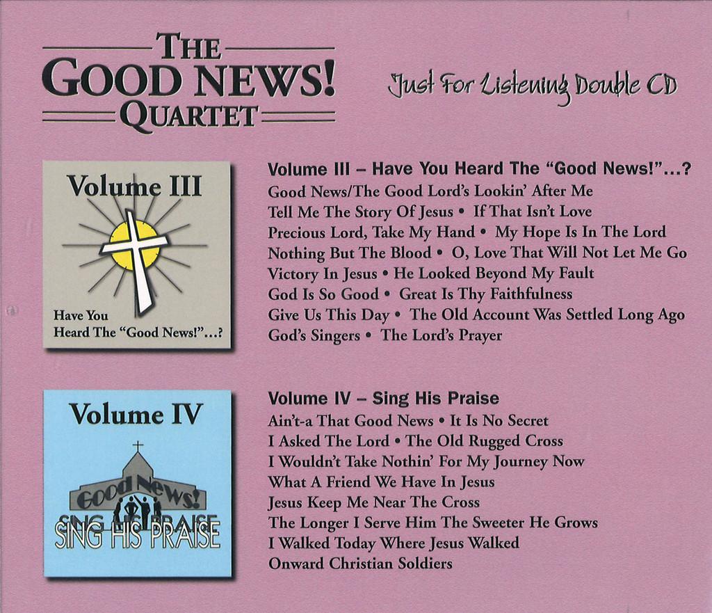Good News Gospel Double CD Volume #3 & #4