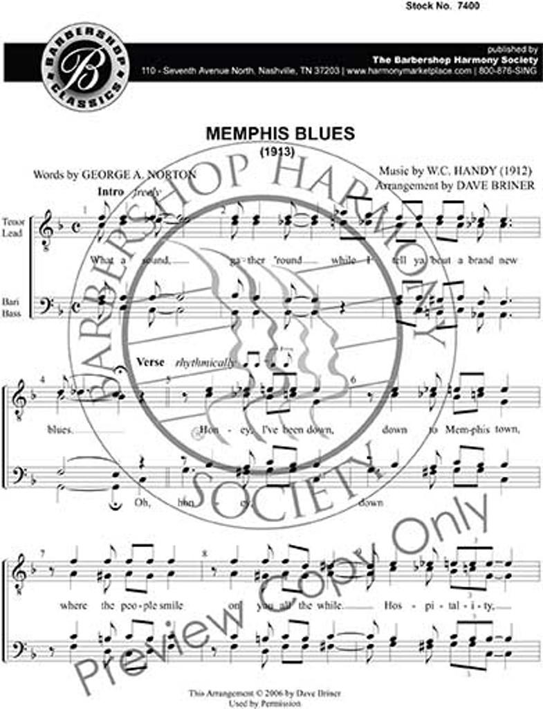 Memphis Blues (TTBB) (arr. Briner)
