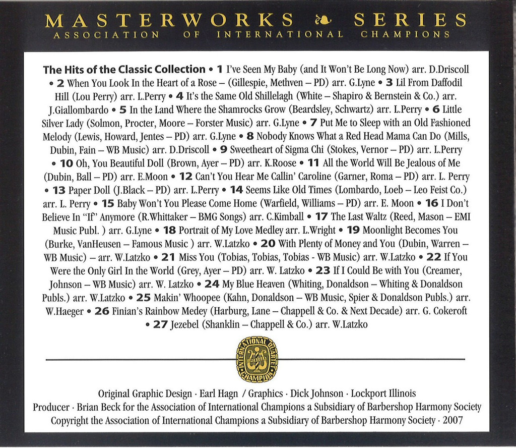 Classic Collection - AIC Masterworks CD