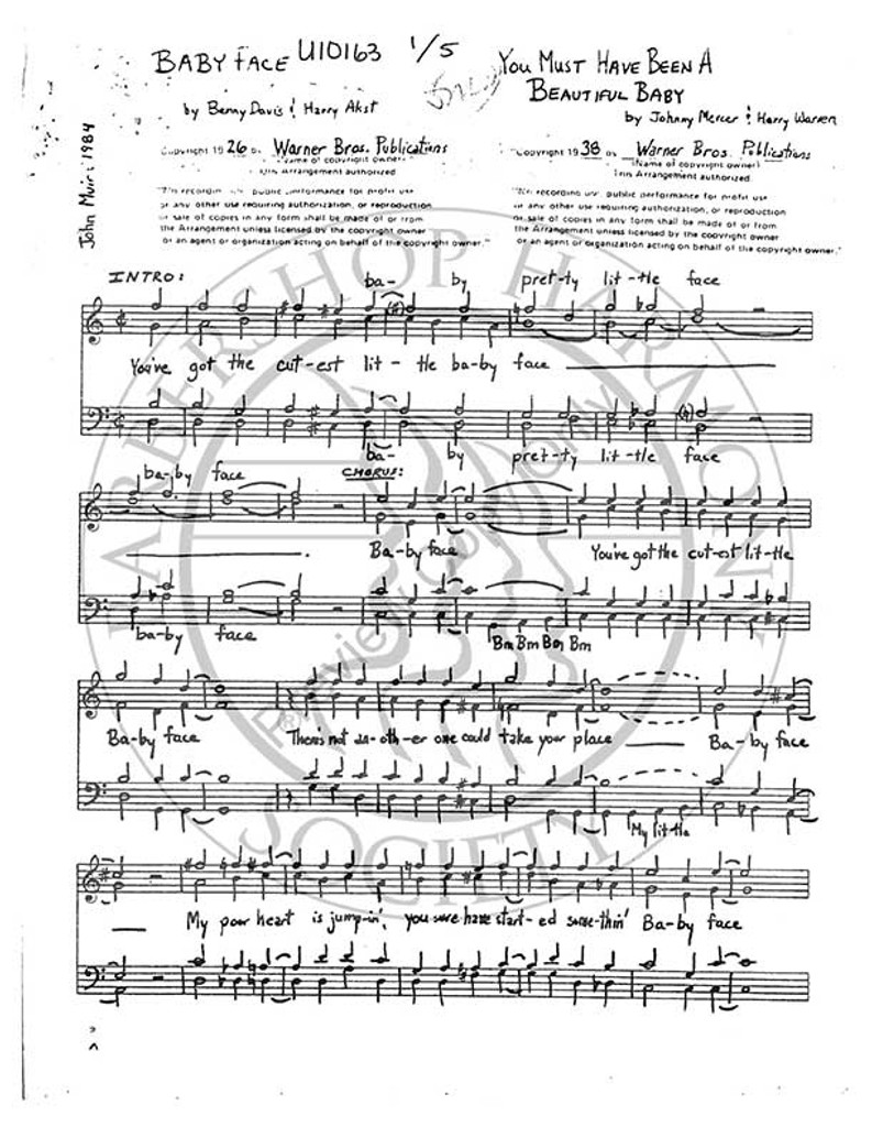 Baby Face/You Must Have Been A Beautiful Baby Medley (TTBB) (arr. John Muir)-Download-UNPUB